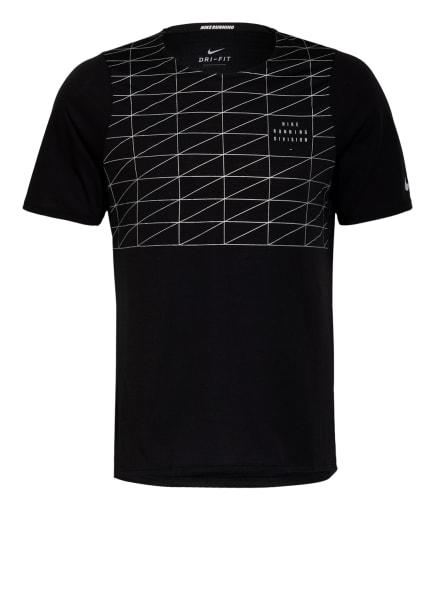 Nike Laufshirt RISE 365 RUN DIVISION, Farbe: SCHWARZ/ SILBER (Bild 1)