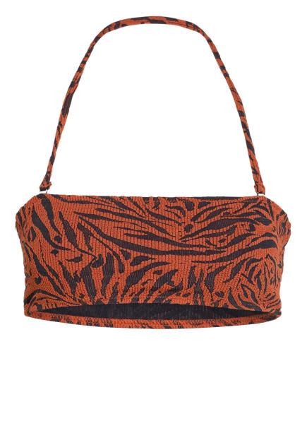SEAFOLLY Bandeau-Bikini-Top AMAZONIA , Farbe: BRAUN/ SCHWARZ (Bild 1)