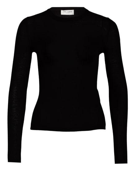 SAINT LAURENT Pullover mit Cashmere, Farbe: SCHWARZ (Bild 1)