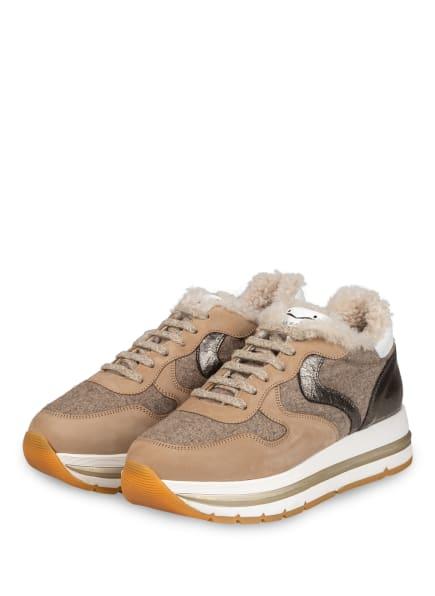 VOILE BLANCHE Plateau-Sneaker MARAN, Farbe: GRAU/ CAMEL/ SILBER (Bild 1)