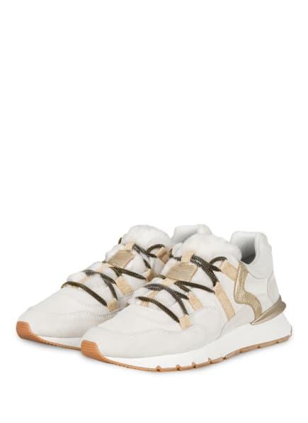VOILE BLANCHE Plateau-Sneaker mit Kunstfellbesatz, Farbe: HELLGRAU (Bild 1)