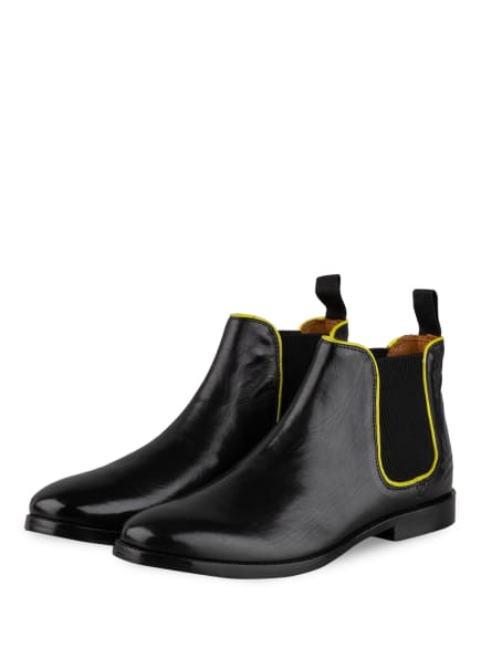 MELVIN & HAMILTON Chelsea-Boots AMELIE, Farbe: SCHWARZ/ GELB (Bild 1)