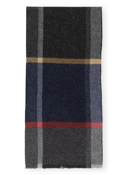 STROKESMAN'S Schal, Farbe: DUNKELGRAU/ DUNKELROT/ DUNKELGELB (Bild 1)