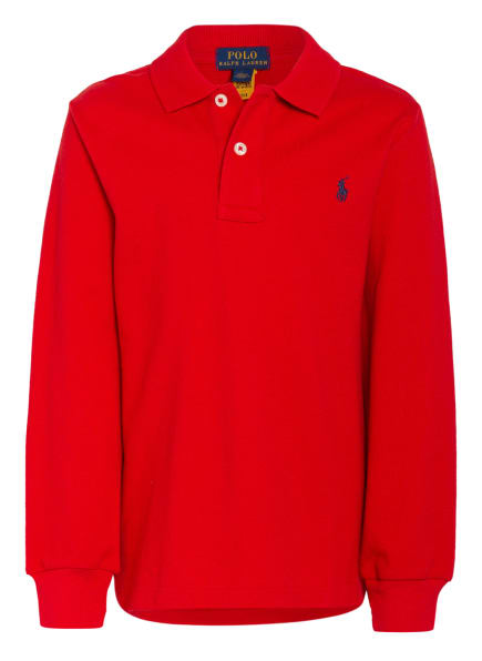 POLO RALPH LAUREN Piqué-Poloshirt, Farbe: ROT (Bild 1)