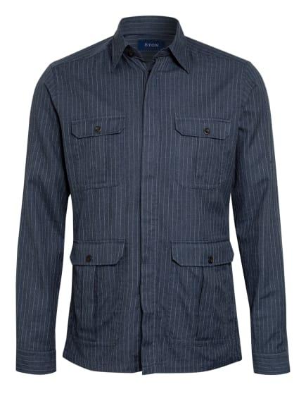 ETON Flanellhemd Slim Fit, Farbe: BLAU/ WEISS (Bild 1)
