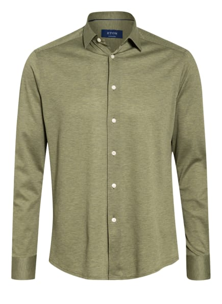 ETON Piqué-Hemd Contemporary Fit, Farbe: OLIV (Bild 1)