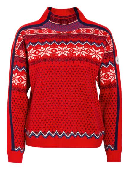 BOGNER Pullover ESTELLE, Farbe: ROT/ DUNKELBLAU/ WEISS (Bild 1)