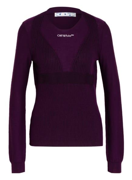 Off-White Pullover, Farbe: DUNKELLILA/ DUNKELBRAUN (Bild 1)