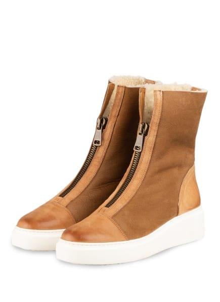 paul green Plateau-Boots, Farbe: HELLBRAUN (Bild 1)