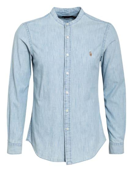 POLO RALPH LAUREN Hemd Slim Fit mit Stehkragen, Farbe: HELLBLAU (Bild 1)
