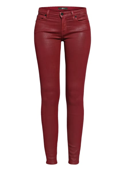 7 for all mankind Jeans THE SKINNY COATED, Farbe: Coated Slim Illusion GARNET (Bild 1)
