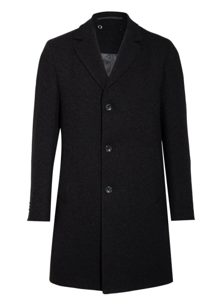 EDUARD DRESSLER Mantel RICK mit abnehmbarer Windblende, Farbe: SCHWARZ/ GRAU (Bild 1)