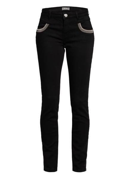 MOS MOSH Skinny Jeans NAOMI mit Schmucksteinbesatz, Farbe: 801 BLACK (Bild 1)
