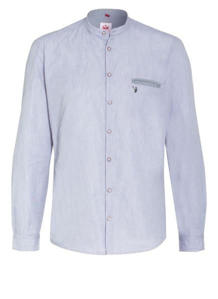 Spieth & Wensky Trachtenhemd Slim Fit mit Stehkragen, Farbe: DUNKELGRÜN/ WEISS (Bild 1)