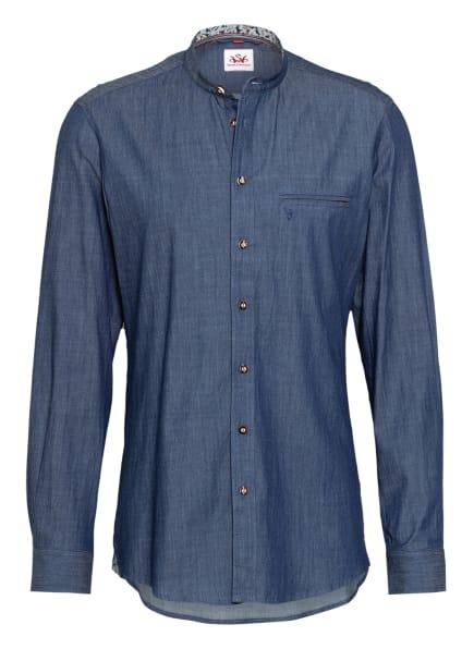 Spieth & Wensky Trachtenhemd PALMIRO Slim Fit mit Stehkragen, Farbe: DUNKELBLAU (Bild 1)