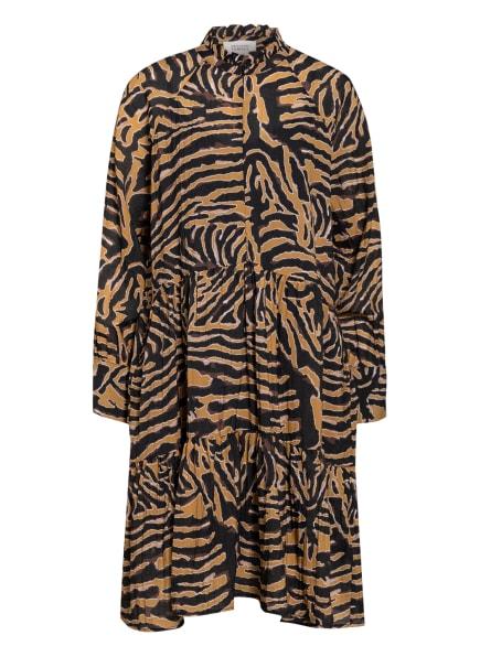 SECOND FEMALE Kleid ZEBRALY, Farbe: SCHWARZ/ BEIGE/ BRAUN (Bild 1)