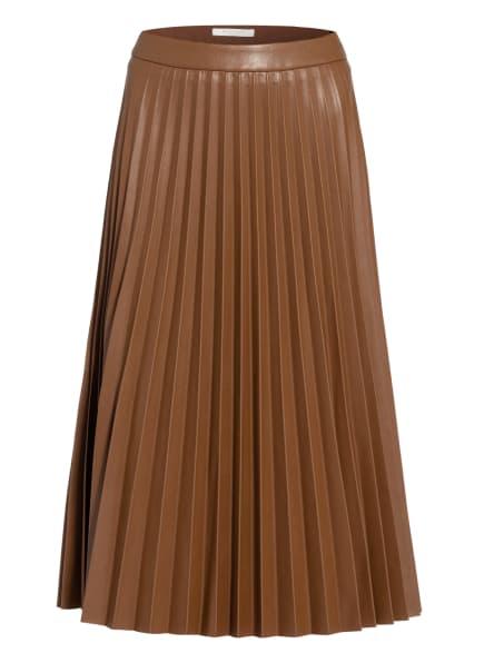 BETTY&CO Plisseerock in Lederoptik, Farbe: BRAUN (Bild 1)