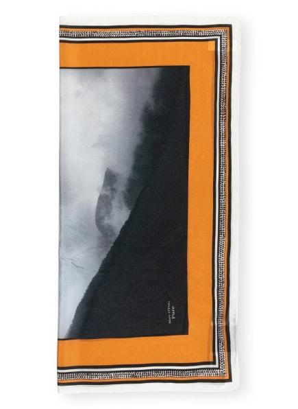 Marc O'Polo Pure Seidentuch, Farbe: SCHWARZ/ NUDE/ HELLBLAU (Bild 1)