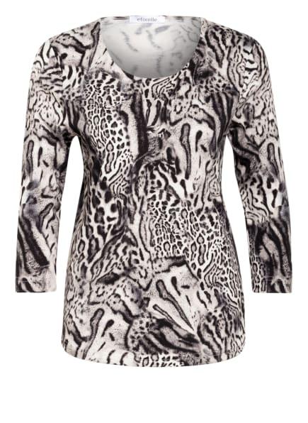 efixelle Shirt mit 3/4-Arm, Farbe: HELLGRAU/ WEISS/ SCHWARZ (Bild 1)