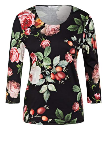 efixelle Shirt mit 3/4-Arm, Farbe: SCHWARZ/ ROT/ GRÜN (Bild 1)