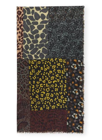 CODELLO Schal, Farbe: DUNKELGRAU/ BRAUN/ DUNKELROT (Bild 1)