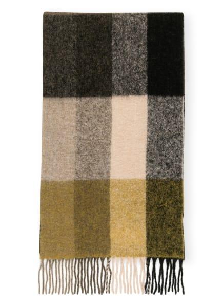 HOLZWEILER Alpaka-Schal TOPSY, Farbe: OLIV/ DUNKELGELB/ SCHWARZ (Bild 1)