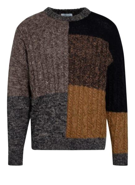 HOLZWEILER Pullover KERN FIELD mit Alpaka, Farbe: TAUPE/ COGNAC/ SCHWARZ (Bild 1)