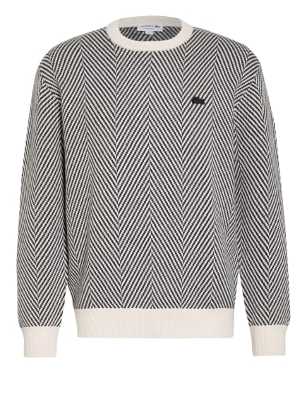 LACOSTE Pullover, Farbe: CREME/ SCHWARZ (Bild 1)