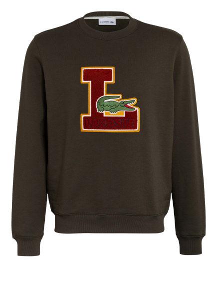 LACOSTE Sweatshirt, Farbe: OLIV/ ROT (Bild 1)
