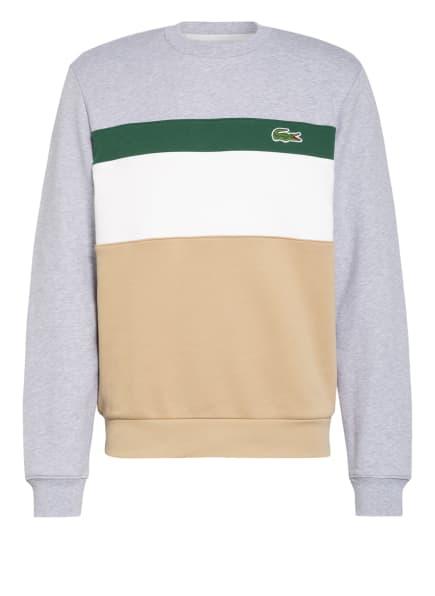 LACOSTE Sweatshirt, Farbe: HELLGRAU/ WEISS/ BEIGE (Bild 1)