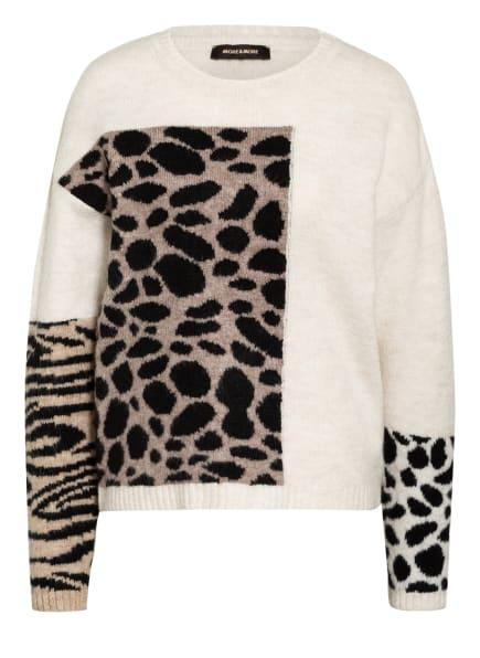 MORE & MORE Pullover, Farbe: WEISS/ SCHWARZ/ HELLBRAUN (Bild 1)