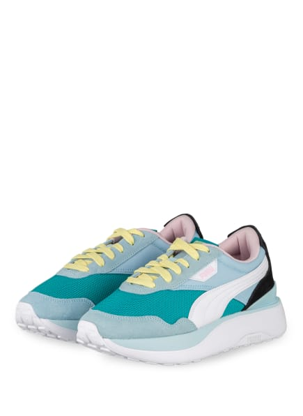 PUMA Plateau-Sneaker CRUISE RIDER , Farbe: MINT/ WEISS/ SCHWARZ (Bild 1)