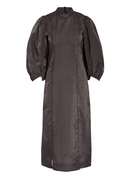 GANNI Kleid mit 3/4-Arm, Farbe: SCHWARZ/ TAUPE (Bild 1)