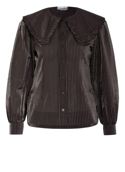 GANNI Bluse, Farbe: SCHWARZ/ DUNKELROT/ BLAU (Bild 1)