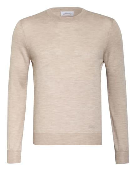 Brioni Cashmere-Pullover mit Seide, Farbe: BEIGE (Bild 1)