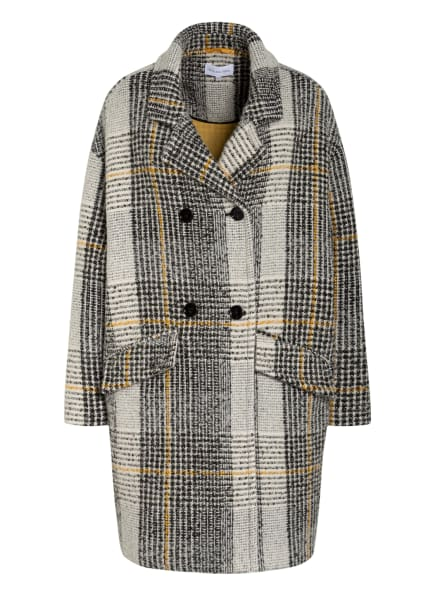 PATRIZIA PEPE Oversized-Mantel, Farbe: SCHWARZ/ WEISS/ DUNKELGELB (Bild 1)