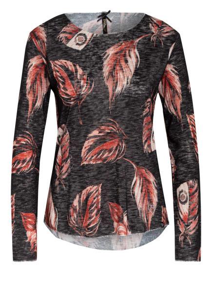 KEY LARGO Pullover ROBIN mit Glitzergarn, Farbe: SCHWARZ/ NUDE/ ROT (Bild 1)