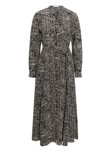 BOSS Kleid DELKAS mit Seide, Farbe: SCHWARZ/ WEISS (Bild 1)