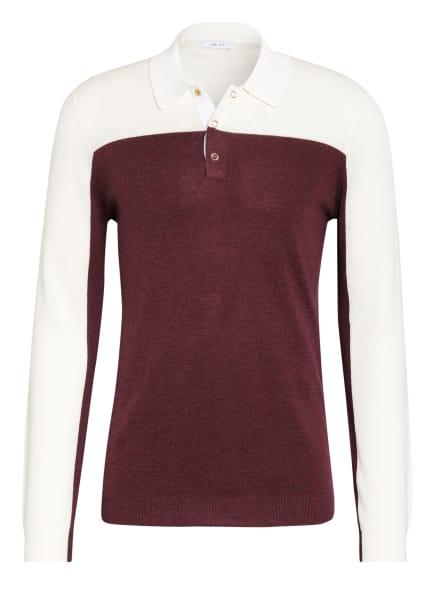 REISS Stick-Poloshirt RUFFANO, Farbe: ECRU/ DUNKELROT (Bild 1)