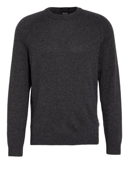 BOSS Cashmere-Pullover DAVIDO, Farbe: DUNKELGRAU (Bild 1)