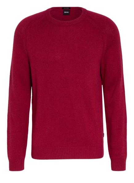 BOSS Cashmere-Pullover DAVIDO, Farbe: DUNKELROT (Bild 1)