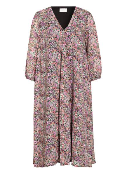 NEO NOIR Kleid TASJA mit 3/4-Arm, Farbe: SCHWARZ/ GRÜN/ LILA (Bild 1)