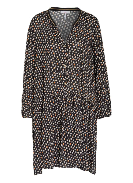 CINQUE Kleid CIDAVOLA, Farbe: SCHWARZ/ WEISS/ DUNKELORANGE (Bild 1)