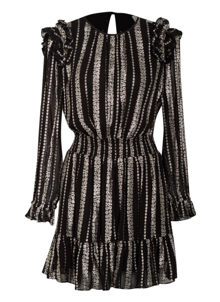 MICHAEL KORS Kleid mit Glitzergarn, Farbe: SCHWARZ/ SILBER (Bild 1)
