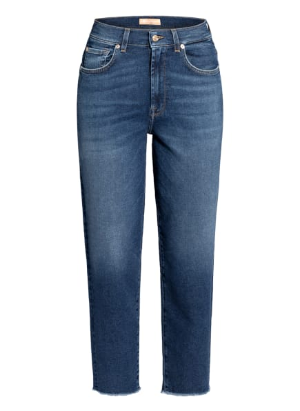 7 for all mankind 7/8-Mom Jeans MALIA , Farbe: PACIFIC GROVE WITH BACK HEM DISTRESSED  MID BLUE (Bild 1)