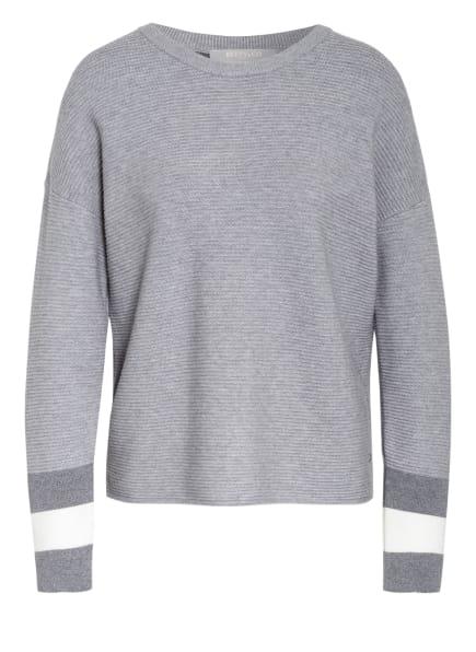 BETTY&CO Pullover , Farbe: GRAU/ DUNKELGRAU/ WEISS (Bild 1)