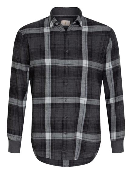 Q1 Manufaktur Flanellhemd Slim Fit, Farbe: GRAU/ HELLGRAU (Bild 1)