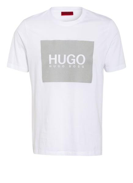 HUGO T-Shirt DOLIVE, Farbe: WEISS/ GRAU (Bild 1)