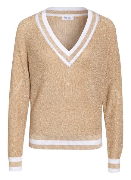 CLAUDIE PIERLOT Pullover MYCHIC mit Glitzergarn, Farbe: BEIGE/ GOLD/ WEISS (Bild 1)