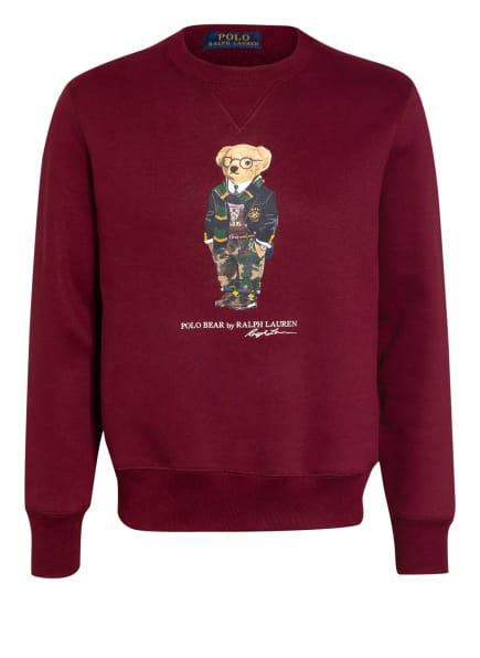 POLO RALPH LAUREN Sweatshirt, Farbe: DUNKELROT/ DUNKELGELB/ GRÜN (Bild 1)